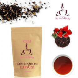 Ceai Negru cu Capsuni