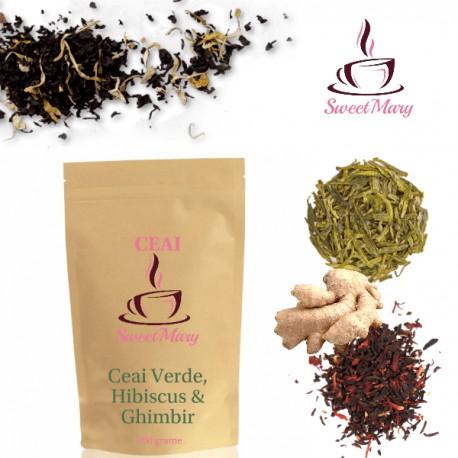 Ceai Verde cu Hibiscus si Ghimbir